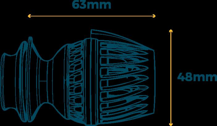 Aquamai wavemaker pomp afmetingen : Afmetingen van de Aquamai wavemaker pomp