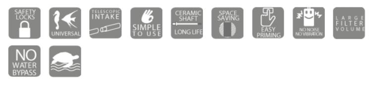 Hydor EXTERNAL PROFESSIONAL FILTER voordelen