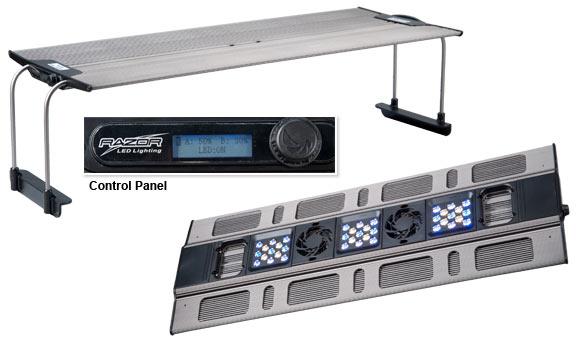 MAXSPECT Razor R420R bediening : De MAXSPECT Razor R420R heeft op het armatuur een bedieningspaneel voor het instellen van de verlichting