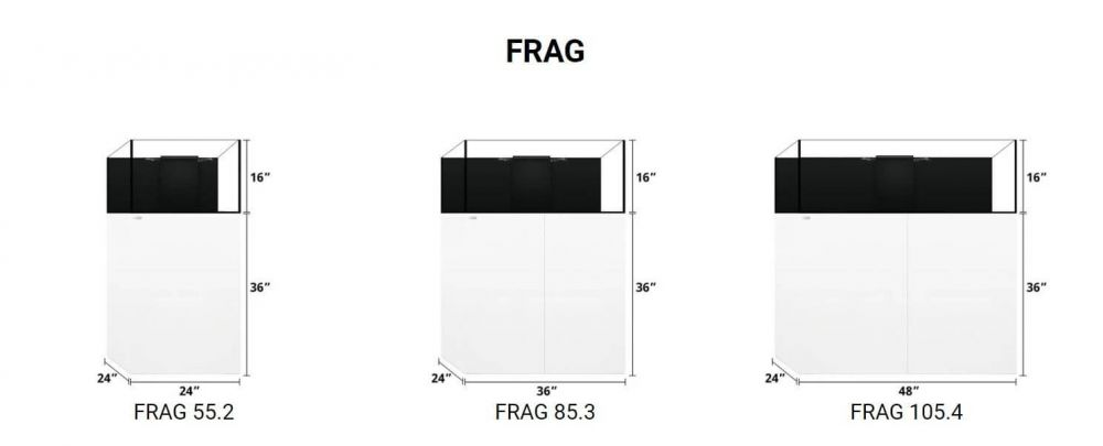 WaterBox FRAG aquariums