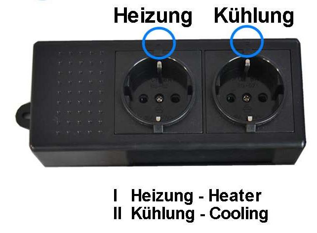 aqua light temperature controller tc 320 stekkerdoos