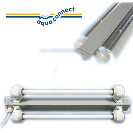 Aqua-Connect T5 TL balk driehoekig 1 x 54w - lengte 123cm. breedte 10cm.