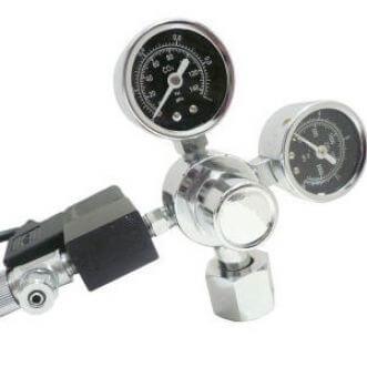 AquaHolland CO2 drukregelaar met 2 manometers & magneetventiel