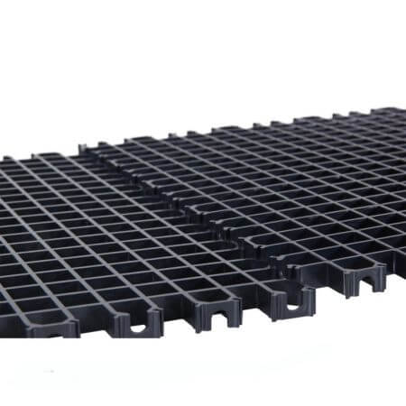 AquaHolland Stekkenrooster 60 x 30 x 1.3cm (Zwart)