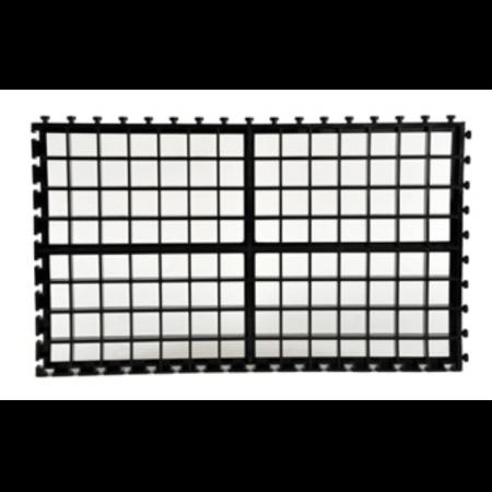 AquaLight Zwart kunststof filterrooster / stekkenrooster A4 formaat