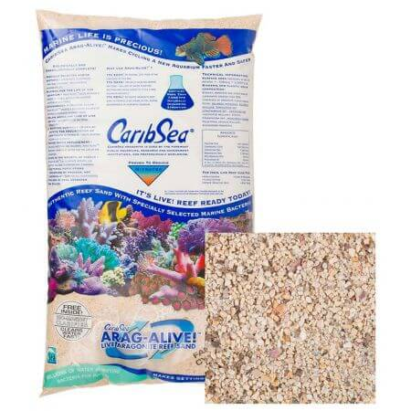 Caribsea Live sand Ocean Direct aragonite - 1-3mm 9,07 kg. - doos a 2 st.