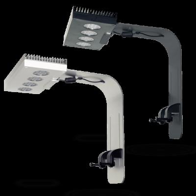 D-D Slimline designer bracket zijn beschikbaar in zilver en zwart en geschikt voor vrijwel ieder aquarium