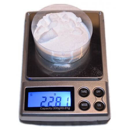 DSR Precision scale 500gr / 0,01gr incl. battery