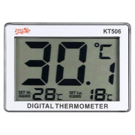 Digital aquarium thermometer with adjustable alarm