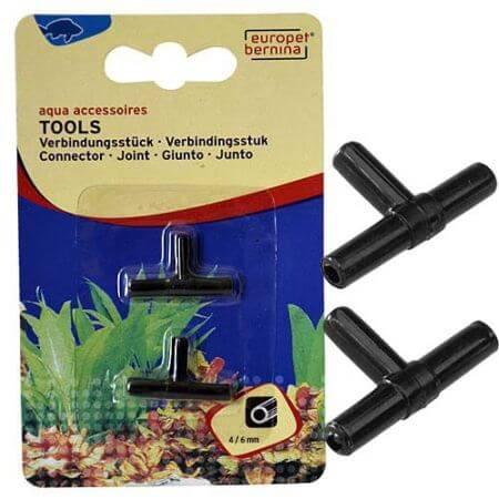 Europet Plastic T-stuk voor 4/6 mm