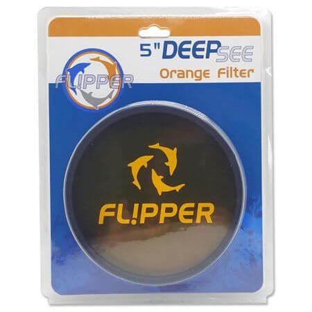 Flipper DeepSee Orange Filter Lens Max 5 inch / 13cm