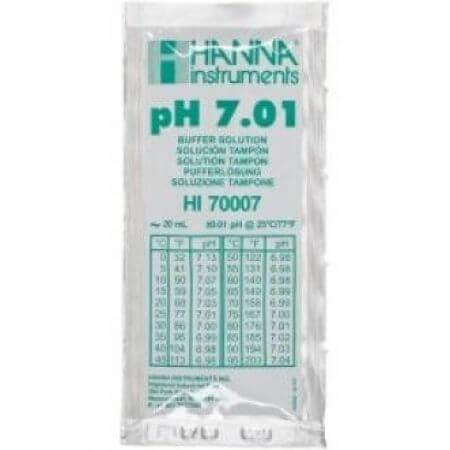 Hanna Kalibratievloeistof pH 7,01 1 zakje 20ml.