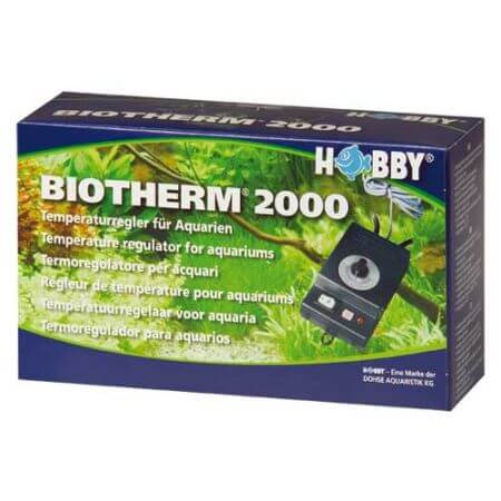 Hobby Biotherm 2000 voor aquaria, 's nachts temp. daling 2° C