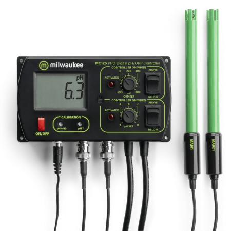 Milwaukee pH + Orp controller incl. pH en ORP electrode