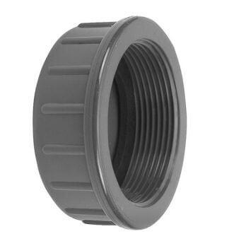 PVC draadkap vlak met rubber ring VDL