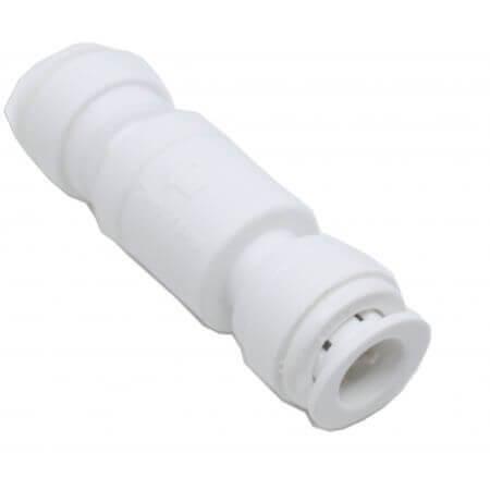 Rechte verlenger voor osmoseslang 9mm - 2 x quick-fit incl terugslagklep