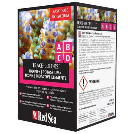 Red Sea Coral Colors A,B,C,D Starter Kit