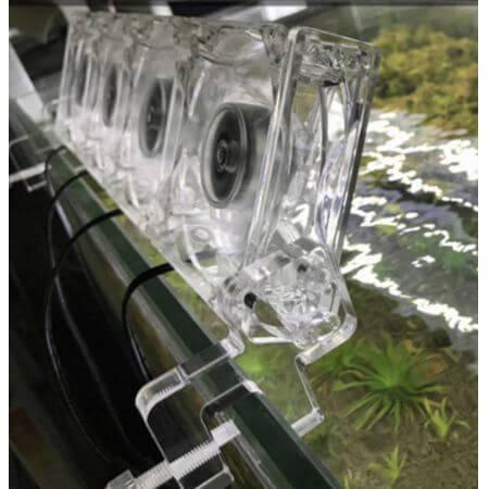 Transparante regelbare aquarium cooler